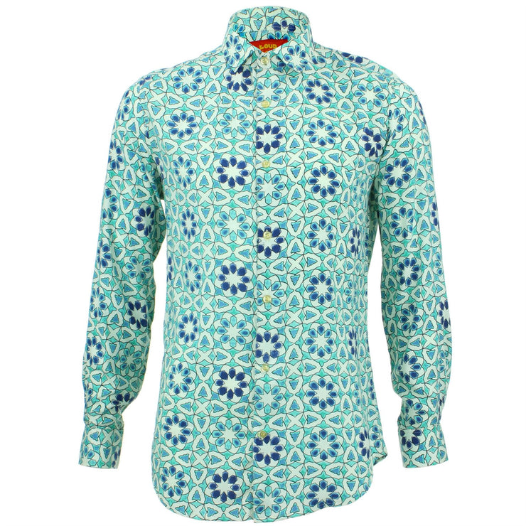 Tailored Fit Long Sleeve Shirt - Moroccan Tile