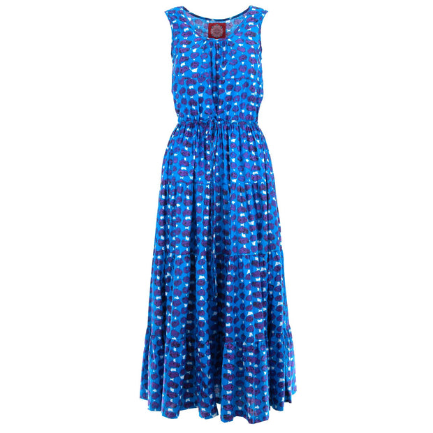 Waisted Maxi Dress - Indigo Dip