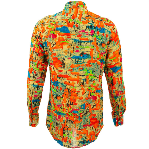 Regular Fit Long Sleeve Shirt - Splatter