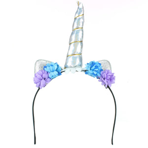 Unicorn Headband - Silver