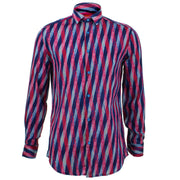 Tailored Fit Long Sleeve Shirt - Overlapping Art Deco