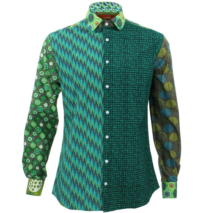 Slim Fit Long Sleeve Shirt - Random Mixed Panel