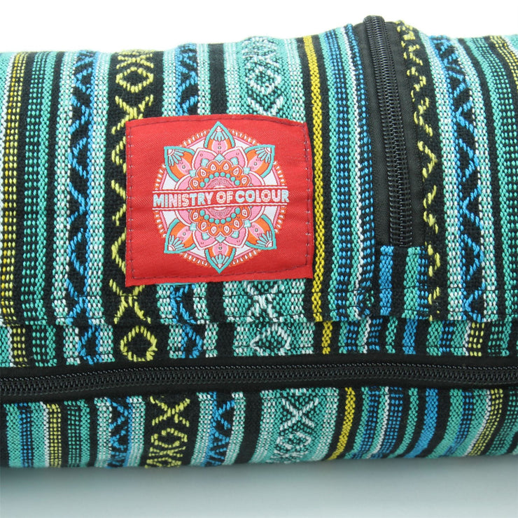 Cotton Canvas Yoga Mat Bag - Arctic Mint