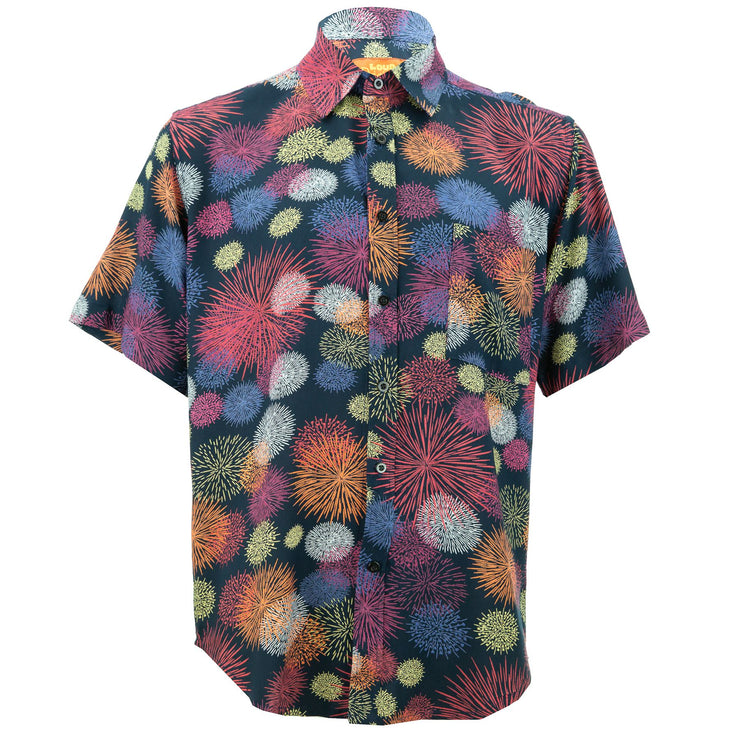 Regular Fit Short Sleeve Shirt - Fireworks