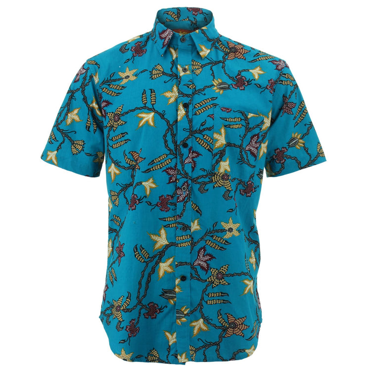 Regular Fit Short Sleeve Shirt - Vines