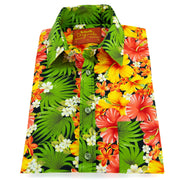 Regular Fit Short Sleeve Shirt - Tropical Hibiscus