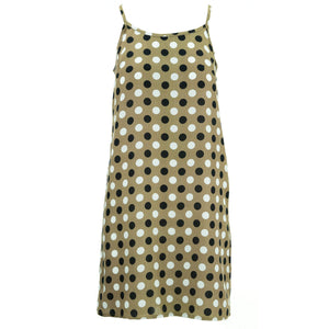 Strappy Dress - Brown Polka Dots
