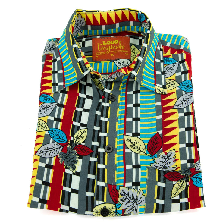 Regular Fit Short Sleeve Shirt - Rhythm in Art
