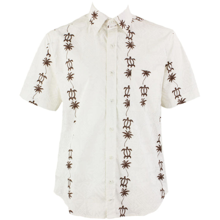 Regular Fit Short Sleeve Shirt - Palm Trees & Turtles