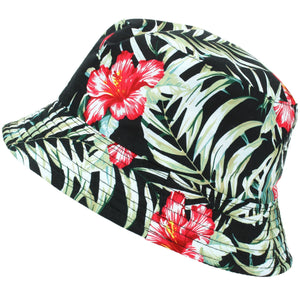 Printed Bucket Hat - Hawaiian