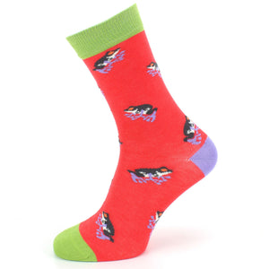 Bamboo Socks - Frogs - Red