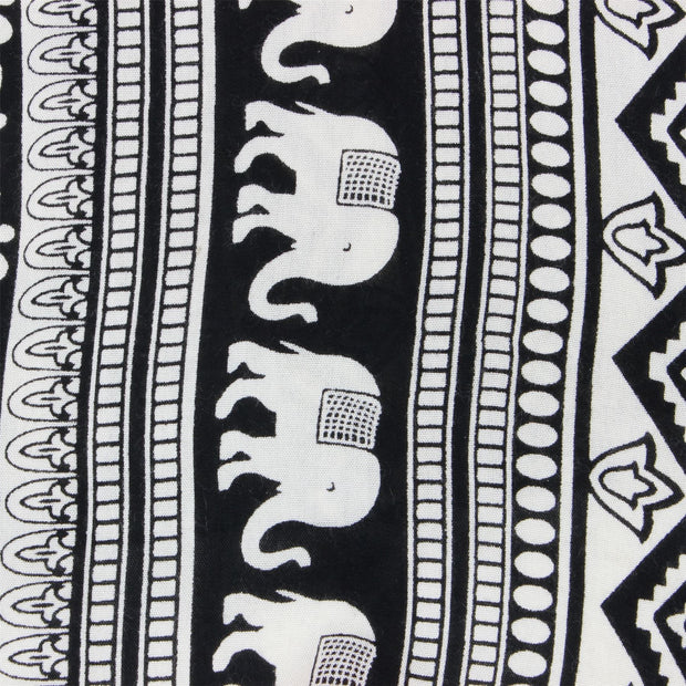Regular Fit Long Sleeve Shirt - Black & White Elephants