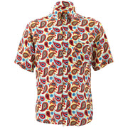 Regular Fit Short Sleeve Shirt - Paisley