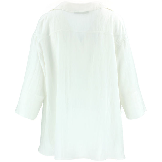Woven Blouse Shirt - Off White