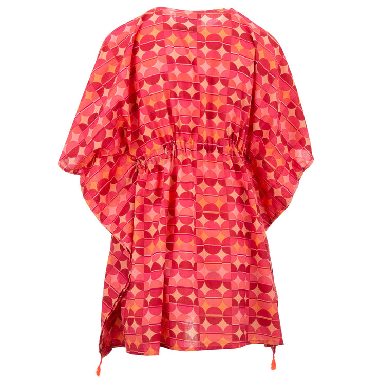 Beach Kaftan Cover-Up - Hot Sunset