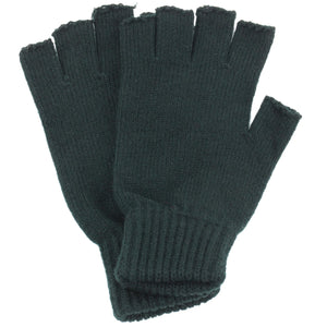 Fingerless Mens Gloves - Black