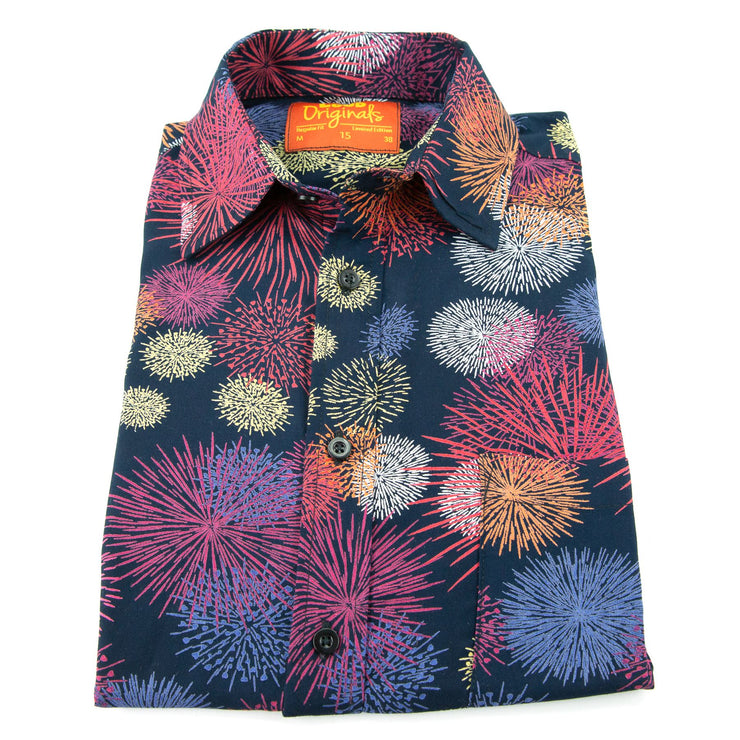 Regular Fit Long Sleeve Shirt - Fireworks