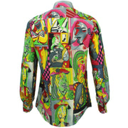 Tailored Fit Long Sleeve Shirt - Cubism Portraits