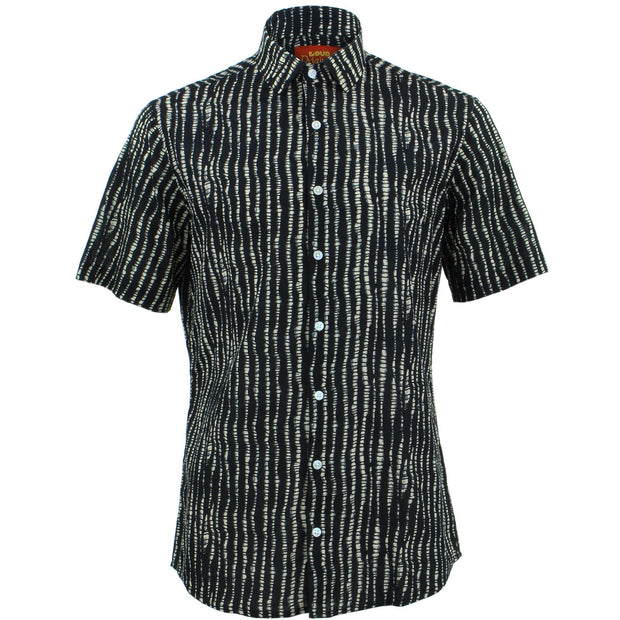 Tailored Fit Short Sleeve Shirt - Spine Lines