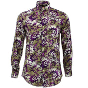 Tailored Fit Long Sleeve Shirt - Floral Blend