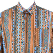 Regular Fit Short Sleeve Shirt - Multicoloured Aztec