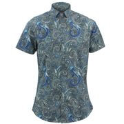 Tailored Fit Short Sleeve Shirt - Floral Paisley