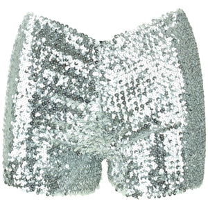 Sequin Shorts - Silver
