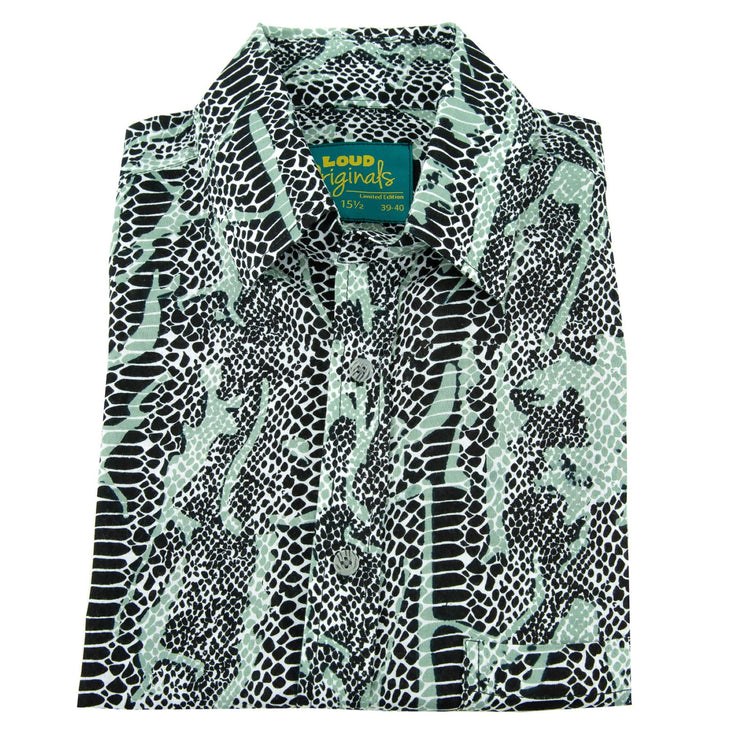 Regular Fit Long Sleeve Shirt - Snakeskin