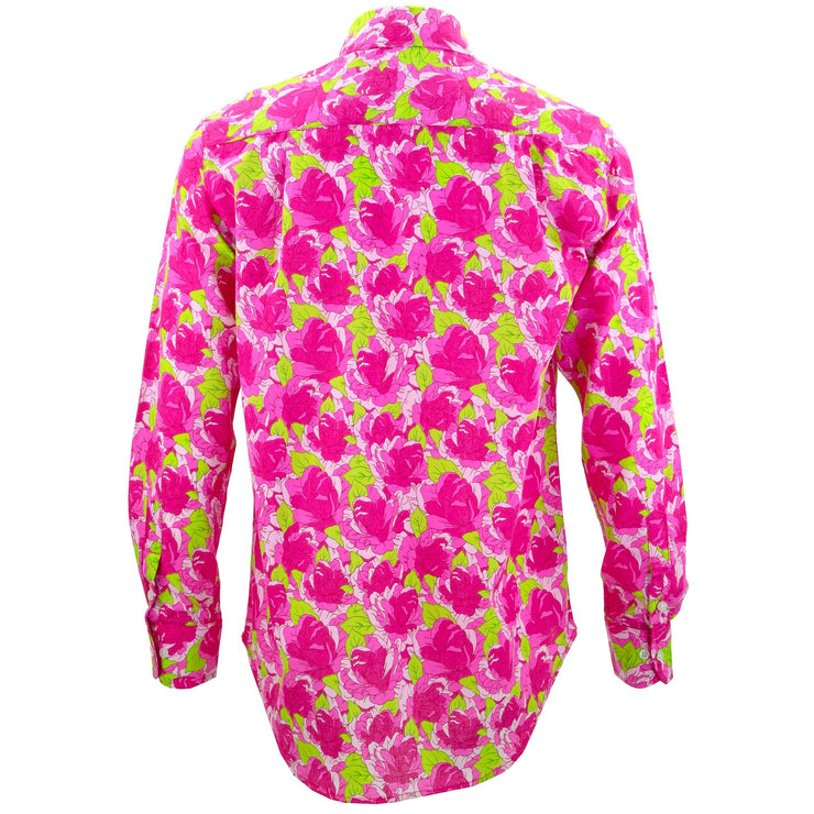 Regular Fit Long Sleeve Shirt - Floral - Pink