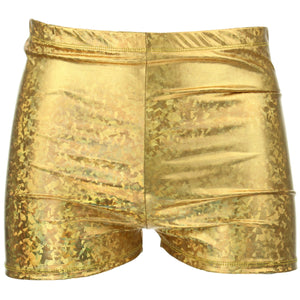 Shiny Mens Shorts - Gold