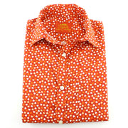 Tailored Fit Short Sleeve Shirt - Orange Hearts