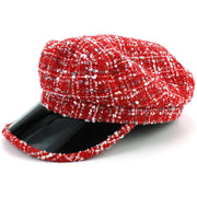 Chindhi Rag Rug Captain's Breton Cap - Red