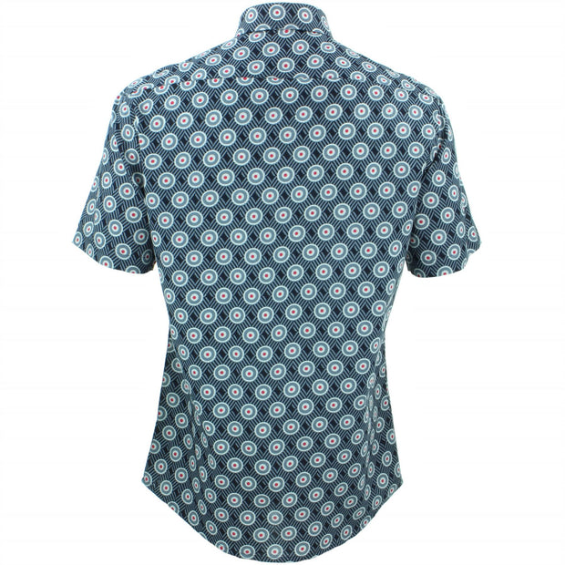 Tailored Fit Short Sleeve Shirt - Bullseye Grid