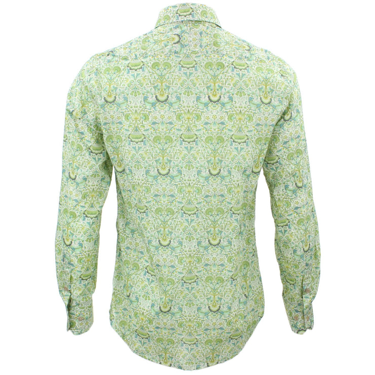 Tailored Fit Long Sleeve Shirt - Delicate Green Floral