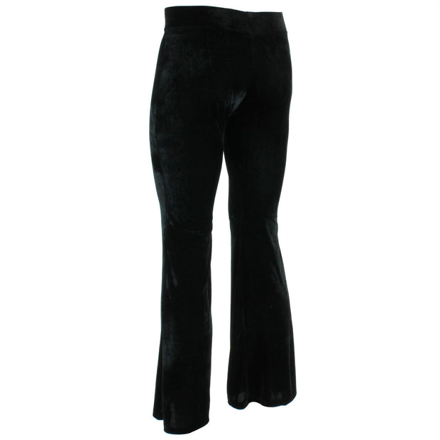 Velvet Flares Trousers - Black