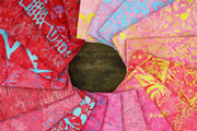 Cotton Batik Pre Cut Fabric Bundles - Fat Quarter - Love & Pink