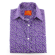 Tailored Fit Short Sleeve Shirt - Purple Hearts