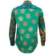Regular Fit Long Sleeve Shirt - Random Mixed Panel Batik