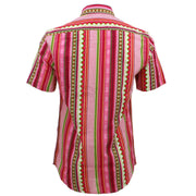 Tailored Fit Short Sleeve Shirt - Red Aztec