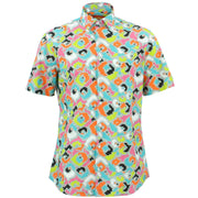 Tailored Fit Short Sleeve Shirt - Pixel