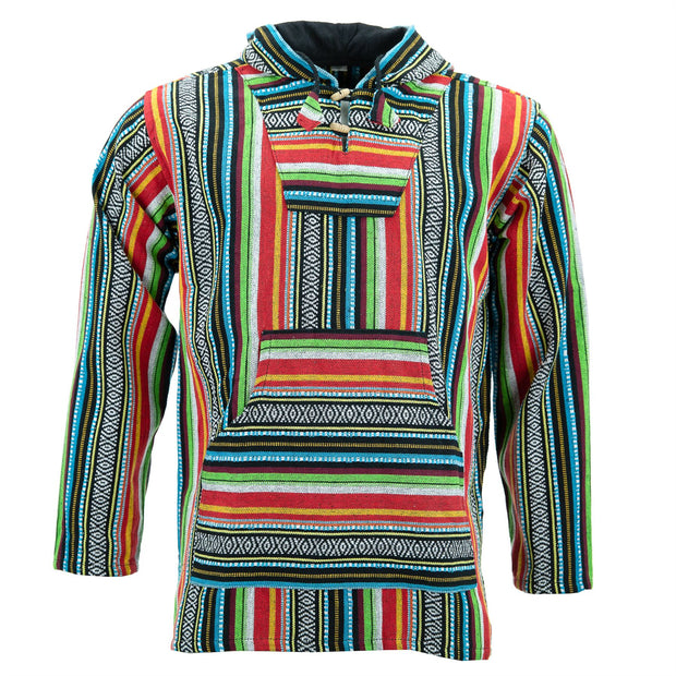 Woven Cotton Baja Hoodie - Mexican Diamond