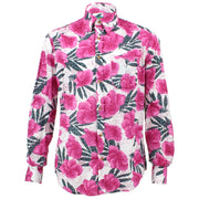 Tailored Fit Long Sleeve Shirt - Abstract Floral