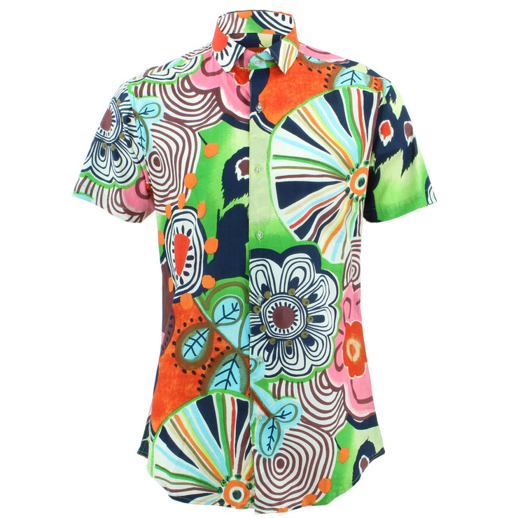 Tailored Fit Short Sleeve Shirt - Floral Fairground