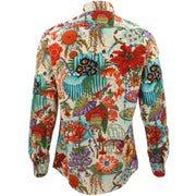 Tailored Fit Long Sleeve Shirt - Japanese Floral