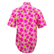 Regular Fit Short Sleeve Shirt - Pink Floral