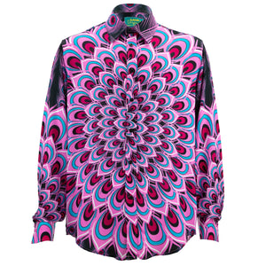 Regular Fit Long Sleeve Shirt - Peacock Mandala - Pink
