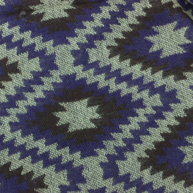 Aztec Pattern Soft Scarf - Purple