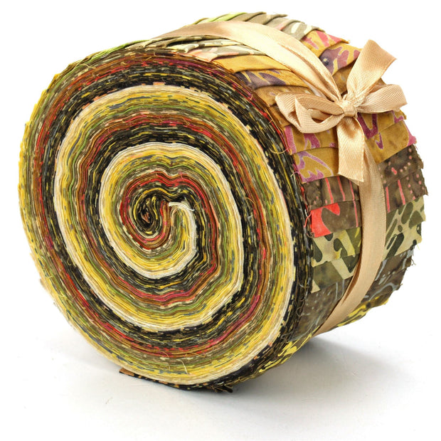 Cotton Batik Pre Cut Fabric Bundles - Jelly Roll  - Desert Haze
