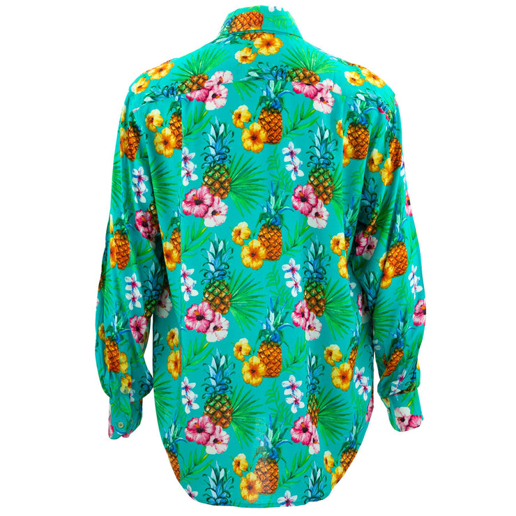 Regular Fit Long Sleeve Shirt - Totally Tropical - Turquoise