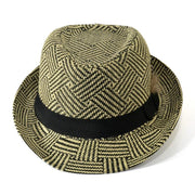 Straw Trilby Hat With Feather